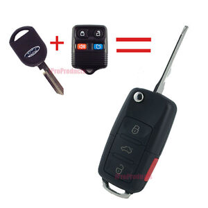 New Ford Flip Key Fob Keyless Entry Switch Blade Remote Lincoln Mercury 4 Button