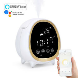 Smart Touch Aroma Diffuser Humidifier App & Alexa enabled Alarm clock  UK Seller