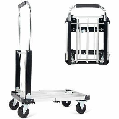 Aluminium Hand Truck Platform Foldable Cart Folding Dolly Heavy Duty Expandable