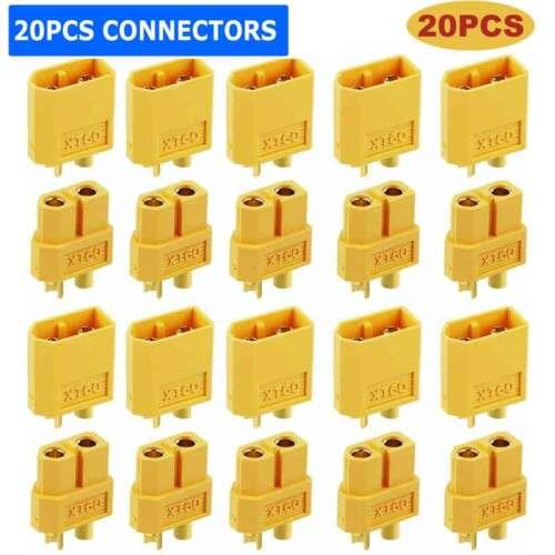 10Pairs XT-60 XT60 Male Female Bullet Connectors RC Lipo Power Plugs Nylon