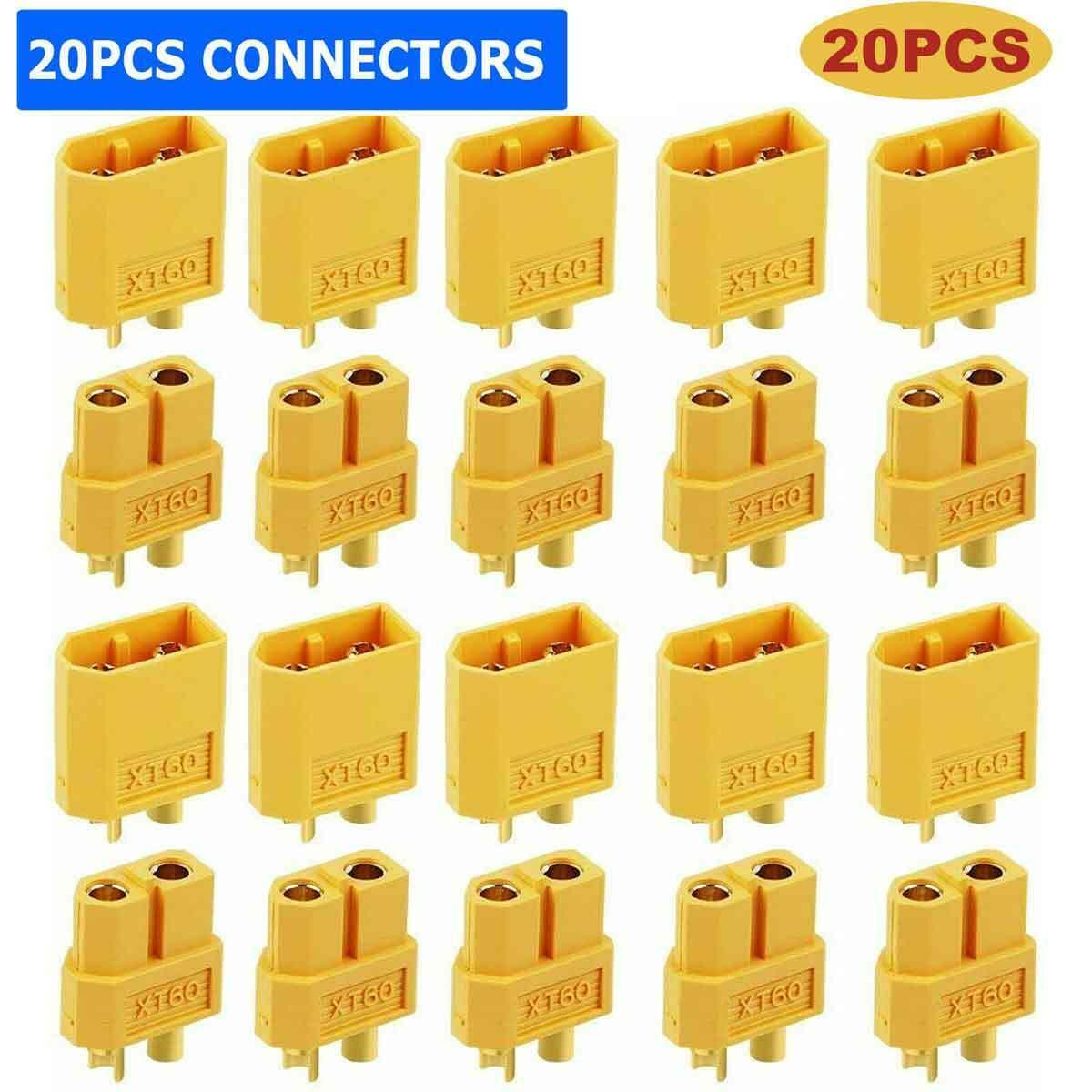 10Pairs XT-60 XT60 Male Female Bullet Connectors RC Lipo Power Plugs Nylon Other RC Parts & Accs