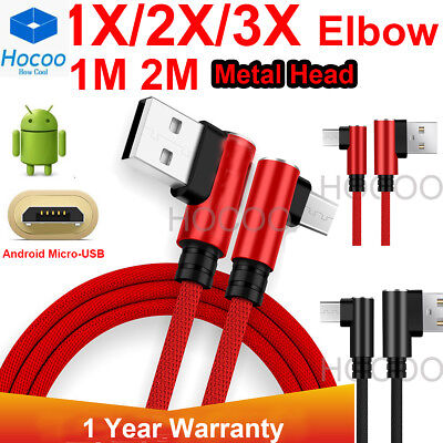 Braided Micro USB Fast Charging Cable Cord Sync For Android Cell Phone Samsung ()