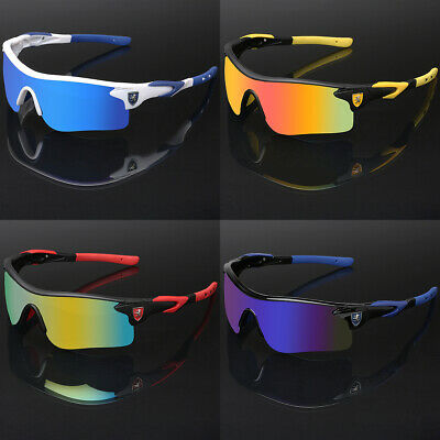 Mirror Lens Sunglasses (Sport Men Cycling Baseball Golf Running Ski Sunglasses Color Mirror Lens)