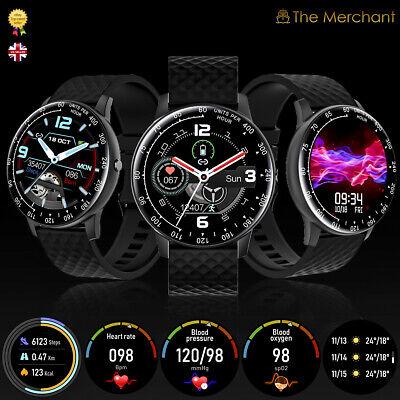 Smart Watch Blood Oxygen BP Bluetooth Heart Rate Monitor Fitness Tracker Wrist
