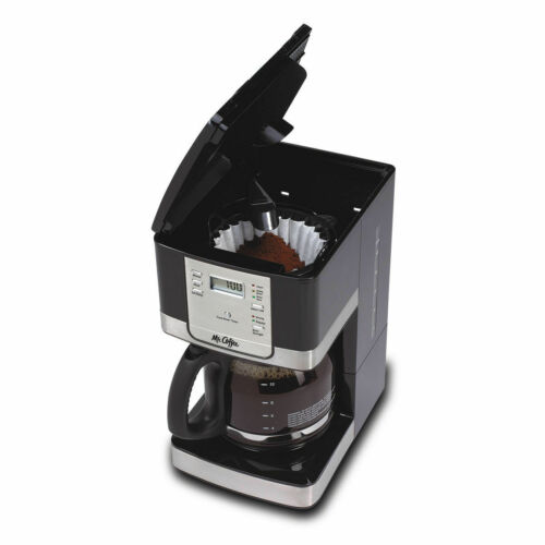 12-Cup Programmable Coffee Maker Black/Stainless Steel Mr. Coffee Advanced Brew