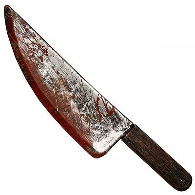 Fake Knife Scary Horror Bloody Butcher Kitchen Halloween Costume Prop - Butcher Halloween Costume
