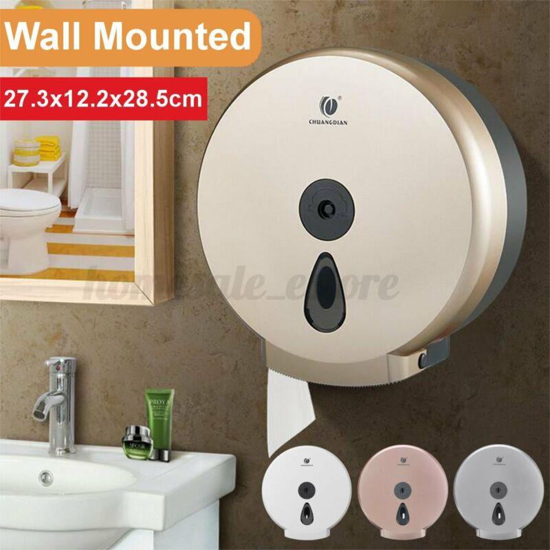 "9"" Jumbo Roll Bathroom Toilet Tissue Paper Dispenser Holder Box Wall Mounte MM"