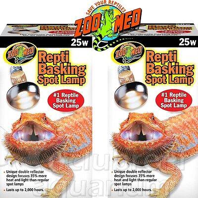 Repti Basking Spot 25 W Watt Reptile Terrarium Light 2 Bulbs 25W Zoo Med