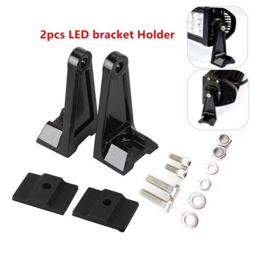 2× LED Work Light Bar Car Side Mounting Bracket Holder For Offroad Aluminum New