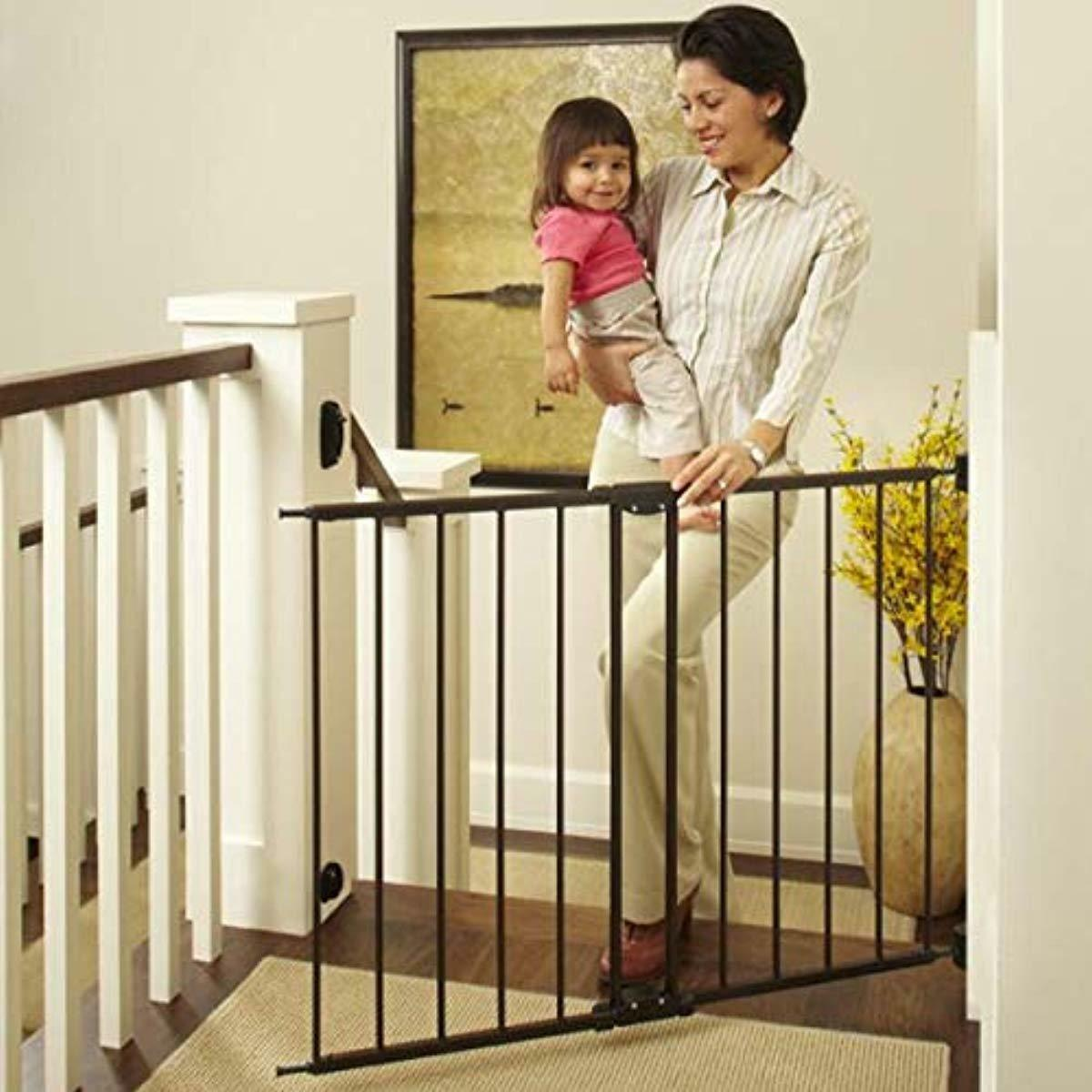 """North States 47.85"""" Easy Swing Lock Baby Gate Fits 28.68""""-47"""