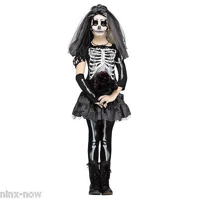 Skeleton Bride Day of the Dead Girls Halloween Costume Fancy Dress (Dead Bride Costume For Girls)