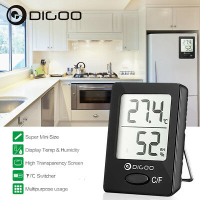 Digoo Digital Indoor Thermometer Hygrometer Temperature Humidity Magnet Meter US