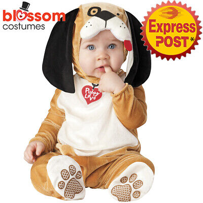 CK1414 Puppy Love Dog Unisex Baby Toddler Halloween Cute Costume Jumpsuit Animal