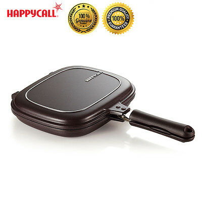 Happycall Non-stick Double Sided Pressure Plasma Titanium Frying Pan Skillet New
