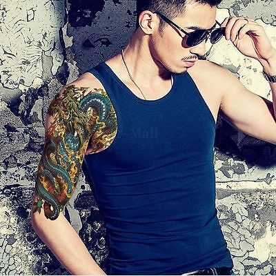 Waterproof Removable Arm Leg Body Dragon Pattern Large Temporary Tattoo Sticker on Rummage