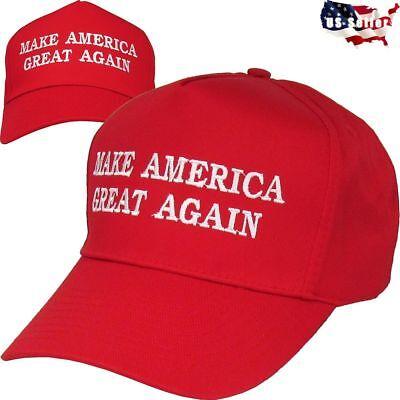 MAKE AMERICA GREAT AGAIN HAT 2016 DONALD TRUMP CAMPAIGN REPUBLICAN RED CAP