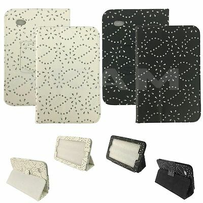 Diamond Bling Leather Book Stand Case Cover For Samsung Galaxy Tab 2 7