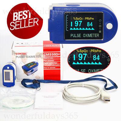 Us Seller Finger Tip Pulse Oximeterspo2 Monitor 24 Hours Recorder Usb Cable Sw