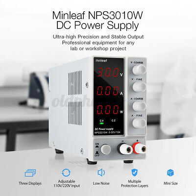 Dc Power Supply Minleaf Nps3010w Variable Digital 30v 10a Adjustable Switching