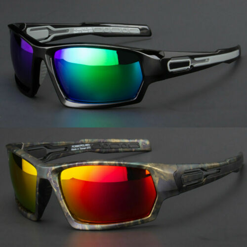 New Men Polarized Sunglasses Sport Wrap Around Black Mirror Driving Glasses USA