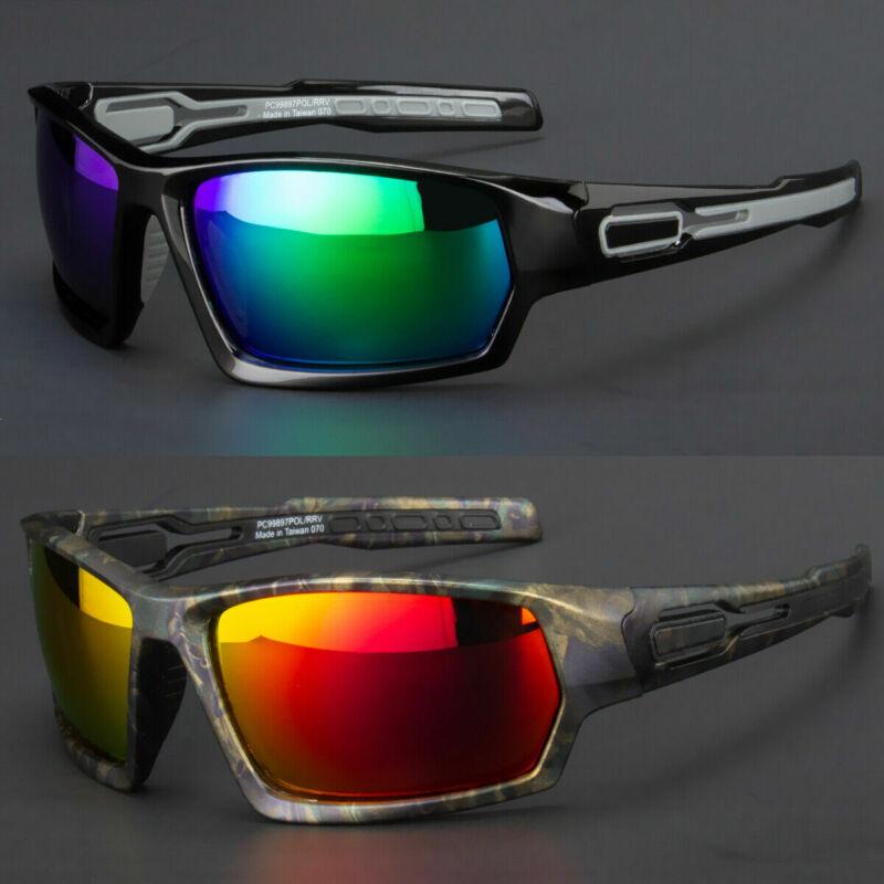 New Men Polarized Sunglasses Sport Wrap Around Black Mirror Driving Glasses Usa