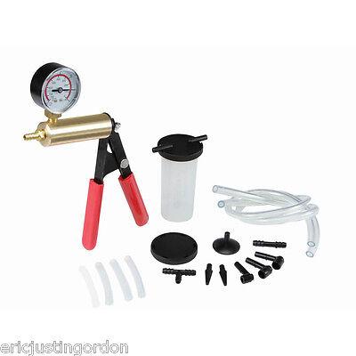 Universal Car Vehicle Brake Bleeder & Vacuum Pump Tester Test Kit Free Shipping