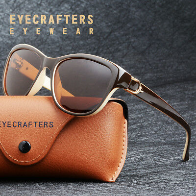 Womens Brand Designer Polarized Cat Eye Sunglasses Fashion Oversized