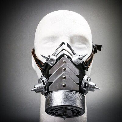 Men & Women Steampunk Burning Man Costume Half Face Gas Mask Respirator - Steampunk Half Mask