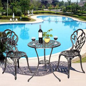 cast aluminum patio furniture ebay rh ebay com Old Cast Iron Patio Furniture Cast Aluminum Patio Furniture Brands