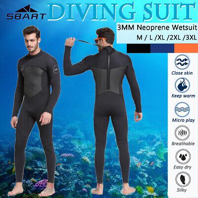 3mm Mens Neoprene Wetsuit Full Length Surf Steamer Swim Long/ Short Wet Suit