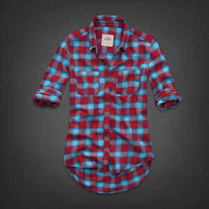 Hollister Women Tecolote Canyon Flannel Shirt XS S M L by Abercrombie