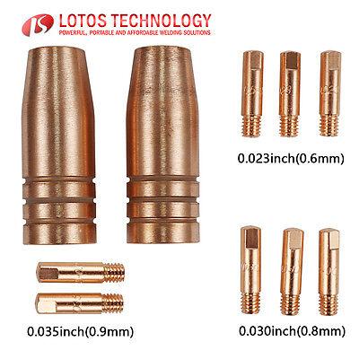 Lotos Mig Welding Torch Gun Nozzle Tips Consumables 10pc Mcs10 For Mig175 Mig140