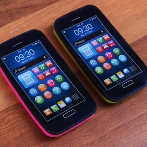 SET OF 2 MOBILE PHONE SHAPED RUBBERS Erasers Kids Childrens Loot Gift Bag Reward