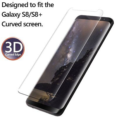 Samsung Galaxy S8 Plus Poetic Case Friendly Tempered Glass Screen Protector Clr