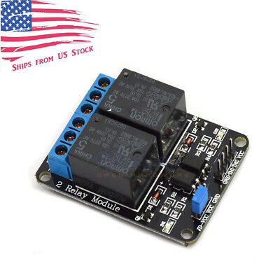 5v 2 Channel Relay Board Module Optocoupler Led For Arduino Pic Arm Avr
