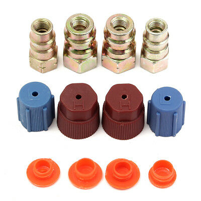 A/C R-12 to R-134a Retrofit Conversion Adapter Fitting 7/16 3/8 SAE Valves Kit