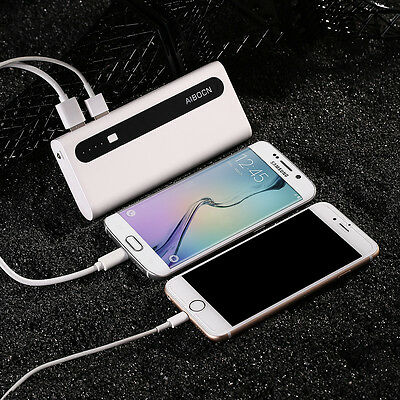 Portable Dual USB 10000mAh Power Bank Charger For iPhone 6s Plus 8 Cell Phone LG