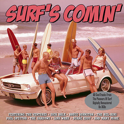Surf's Comin' VARIOUS ARTISTS Best Of 75 Surf Rock Songs BEACH MUSIC New 3