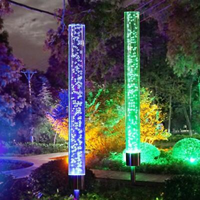 2*LED Solar Powered Acrylic Bubble Light Lawn Lamp Outdoor Multi-color Yard US](Light Novelties)