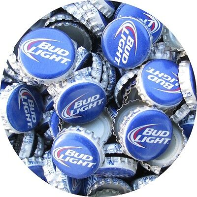 100 Bud Light Beer Bottle Caps (No Dents). Free S&H