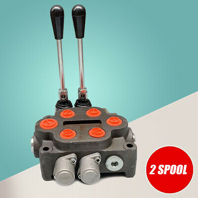 2 Spool Hydraulic Control Valve 34 Outlet Loader Wood Splitter 25gpm 3000psi