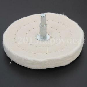 4'' 100mm Cloth Polishing Mop wheel Pad For Power/Battery Drill Buffing Grinder