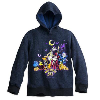 Disney Store Mickey Pluto Goofy Donald Halloween 2017 Hoodie Boys Size S M L (Halloween 2017 Stores)
