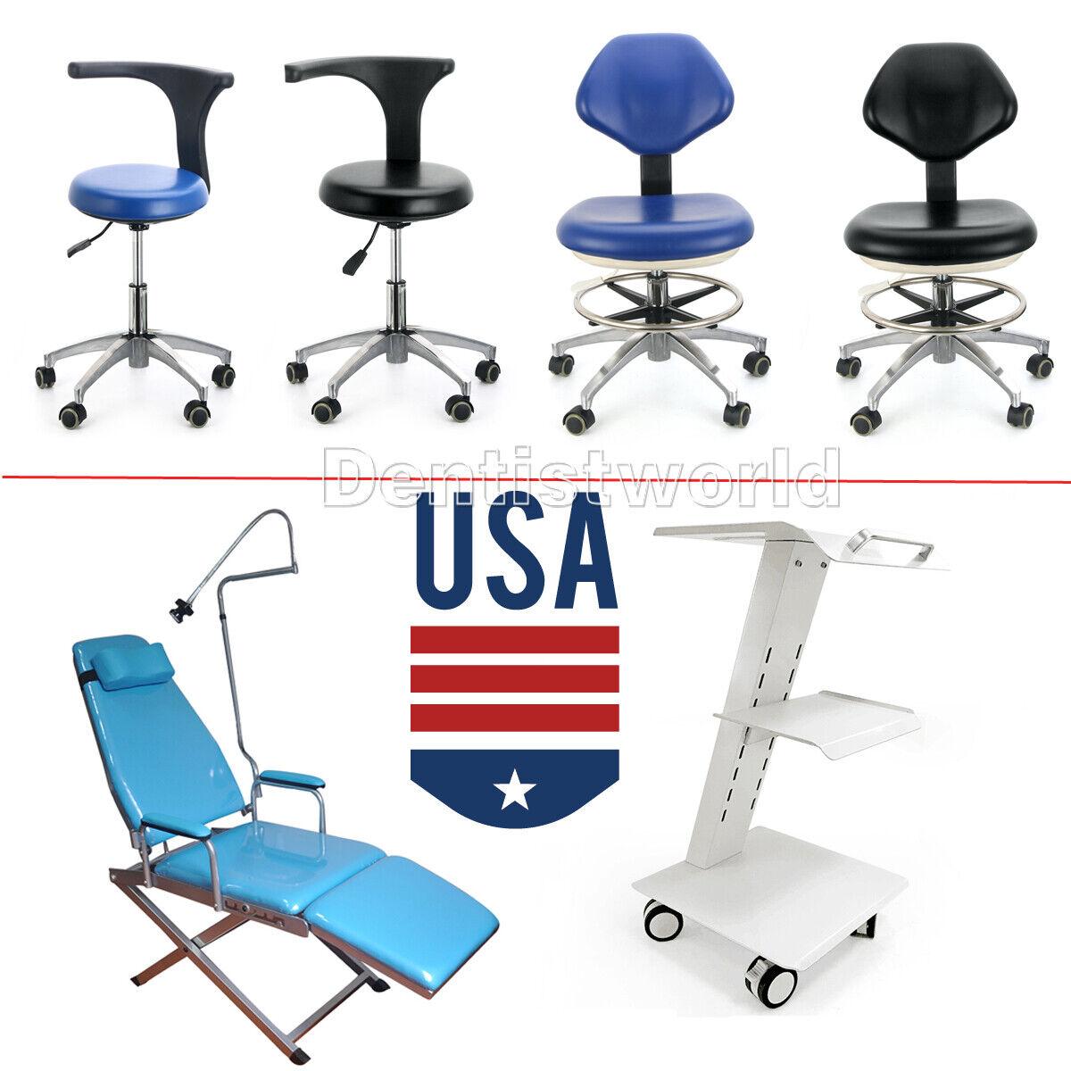 Dental Unit Chair Hard Leather Mobile Chair PU 3 Layers Meta