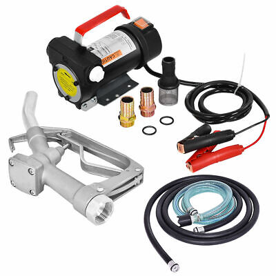 - 12V 10GPM Electric Diesel Oil And Fuel Transfer Extractor Pump w/ Nozzle & Hose