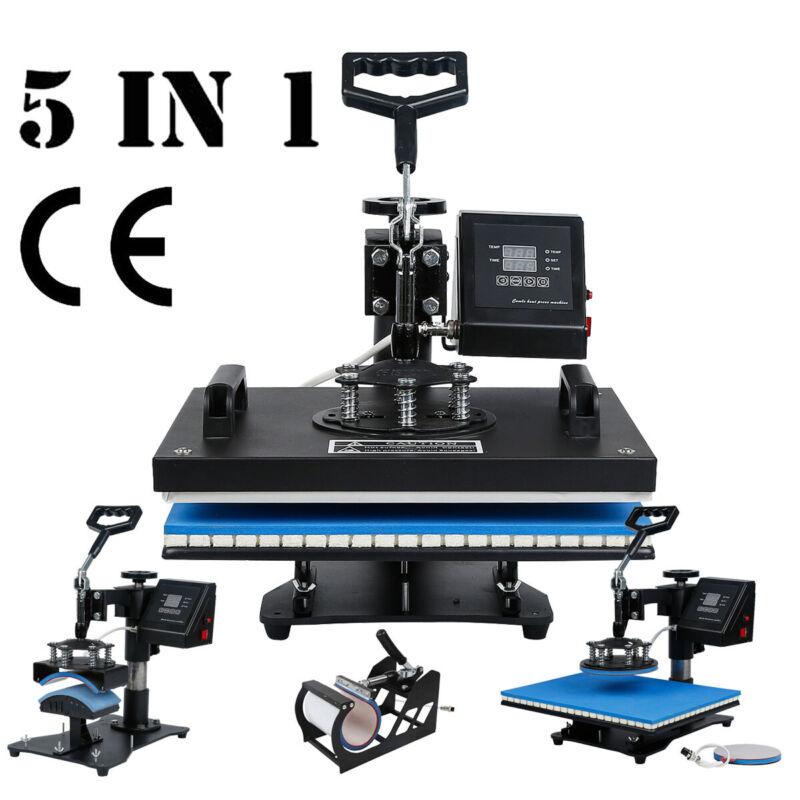 5in1 Heat Press Machine Clamshell Transfer Machine Sublimation Hat Mug T-Shirt