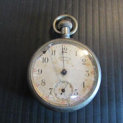 """Vintage - """"Ingersoll Yankee"""" Pocket Watch - Movement Works - Circa 1918"""