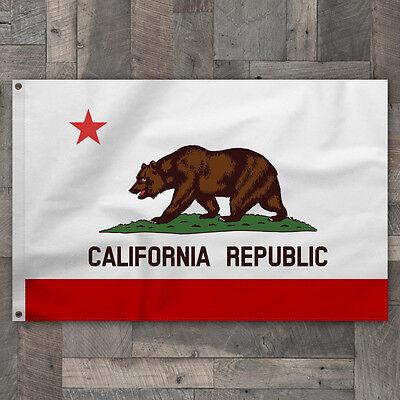 100% Cotton 3x4.5 Sewn Stripe California Republic State Flag Pennant Made in USA