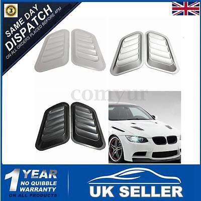 Pairs Auto Car Decorative Air Flow Intake Scoop Bonnet Side Fender Vent Hood UK