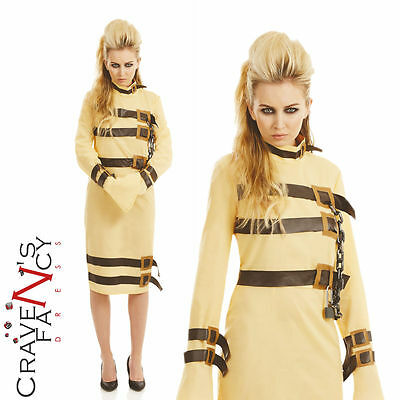 Ladies Straight Jacket Halloween Costume Escape Artist Fancy Dress Hannibal New - Straight Jacket Womens Halloween Costume